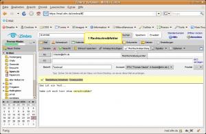 Zimbra Webclient Rechtschreibprüfung