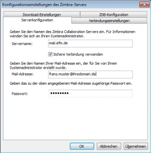 how to connect zimbra to outlook